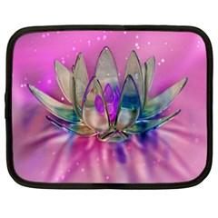 Crystal Flower Netbook Case (xl)  by Sapixe