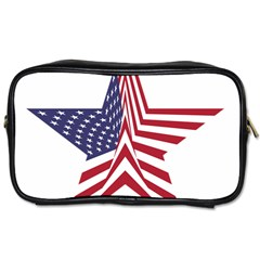 A Star With An American Flag Pattern Toiletries Bags by Nexatart