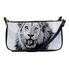 Lion Wildlife Art And Illustration Pencil Shoulder Clutch Bags