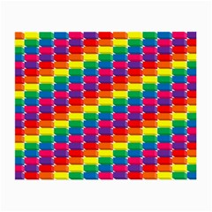 Rainbow 3d Cubes Red Orange Small Glasses Cloth (2 Side)