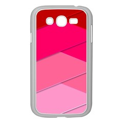 Geometric Shapes Magenta Pink Rose Samsung Galaxy Grand Duos I9082 Case (white) by Nexatart