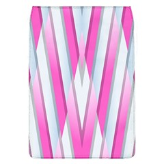 Geometric 3d Design Pattern Pink Flap Covers (l)  by Nexatart