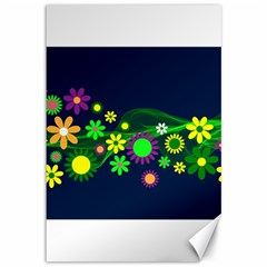 Flower Power Flowers Ornament Canvas 12  X 18   by Sapixe