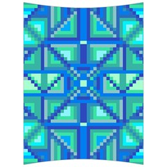 Grid Geometric Pattern Colorful Back Support Cushion by Sapixe