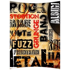 Guitar Typography Back Support Cushion by Sapixe