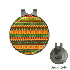 Mexican Pattern Hat Clips With Golf Markers by Sapixe