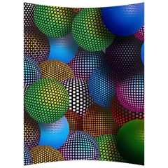 Multicolored Patterned Spheres 3d Back Support Cushion by Sapixe