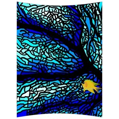 Sea Fans Diving Coral Stained Glass Back Support Cushion by Sapixe