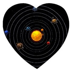 Solar System Jigsaw Puzzle (heart) by Sapixe