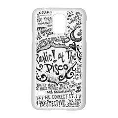 Panic! At The Disco Lyric Quotes Samsung Galaxy S5 Case (white) by Samandel