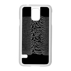 Grayscale Joy Division Graph Unknown Pleasures Samsung Galaxy S5 Case (white) by Samandel