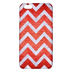 Chevron9 White Marble & Red Brushed Metal Iphone 6 Plus/6s Plus Tpu Case by trendistuff