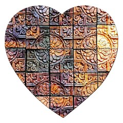 Wooden Blocks Detail Jigsaw Puzzle (heart) by Sapixe