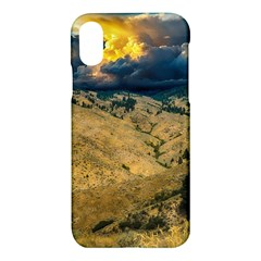 Hills Countryside Landscape Nature Apple Iphone X Hardshell Case by Sapixe