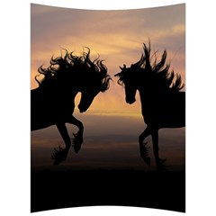 Horses Sunset Photoshop Graphics Back Support Cushion by Sapixe