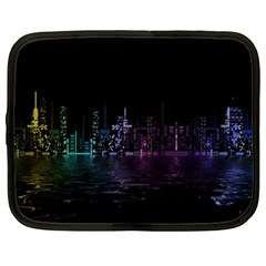 City Night Skyscrapers Netbook Case (xl)  by Sapixe