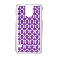 Scales2 White Marble & Purple Denim Samsung Galaxy S5 Case (white) by trendistuff