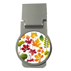 Beautiful Autumn Leaves Vector Money Clips (round)  by Nexatart