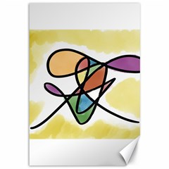Abstract Art Colorful Canvas 12  X 18   by Modern2018