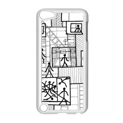 Drawing Apple Ipod Touch 5 Case (white) by ValentinaDesign