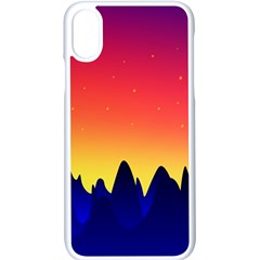 Night Landscape Apple Iphone X Seamless Case (white) by goodart