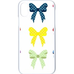 Ribbons And Bows Polka Dots Apple Iphone X Seamless Case (white) by Modern2018