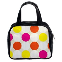 Polka Dots Background Colorful Classic Handbags (2 Sides) by Modern2018