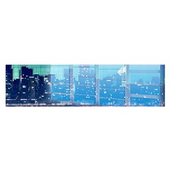 Skyscrapers City Skyscraper Zirkel Satin Scarf (oblong)