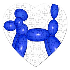 Poodle Dog Balloon Animal Clown Jigsaw Puzzle (heart) by Nexatart