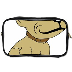 Dog Cute Sitting Puppy Pet Toiletries Bags by Nexatart