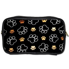 Dog Pawprint Tracks Background Pet Toiletries Bags 2 Side by Nexatart