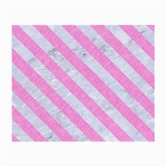 Stripes3 White Marble & Pink Colored Pencil Small Glasses Cloth (2 Side) by trendistuff