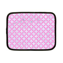Circles3 White Marble & Pink Colored Pencil (r) Netbook Case (small)  by trendistuff