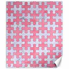 Puzzle1 White Marble & Pink Watercolor Canvas 20  X 24   by trendistuff