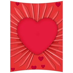 Background Texture Heart Love Back Support Cushion by Sapixe