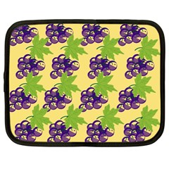 Grapes Background Sheet Leaves Netbook Case (xl)  by Sapixe