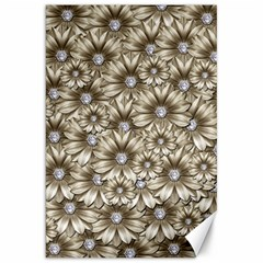 Background Flowers Canvas 20  X 30   by Sapixe