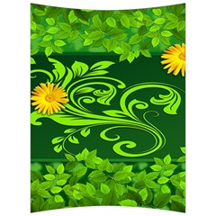 Background Texture Green Leaves Back Support Cushion by Sapixe