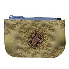 Fractal Art Colorful Pattern Large Coin Purse by Sapixe