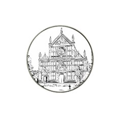 Line Art Architecture Church Italy Hat Clip Ball Marker (4 Pack) by Sapixe