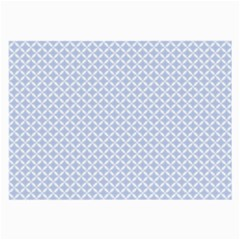 Alice Blue Quatrefoil In An English Country Garden Large Glasses Cloth (2 Side) by PodArtist