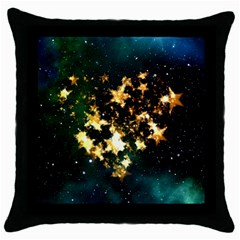 Heart Love Universe Space All Sky Throw Pillow Case (black) by Nexatart