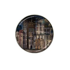 Architecture City Home Window Hat Clip Ball Marker (4 Pack)