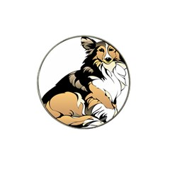 Dog Sitting Pet Collie Animal Hat Clip Ball Marker by Sapixe