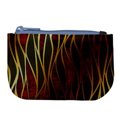 Snake In The Grass Red And Black Seamless Design Large Coin Purse by flipstylezdes