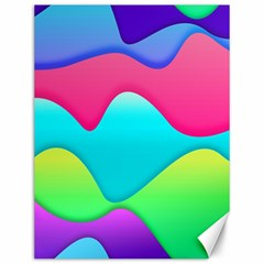 Lines Curves Colors Geometric Lines Canvas 12  X 16   by Nexatart