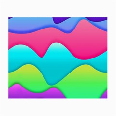 Lines Curves Colors Geometric Lines Small Glasses Cloth (2 Side) by Nexatart