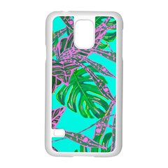 Painting Oil Leaves Nature Reason Samsung Galaxy S5 Case (white) by Nexatart