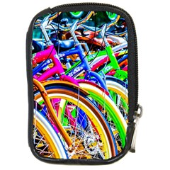 Colorful Bicycles In A Row Compact Camera Cases by FunnyCow