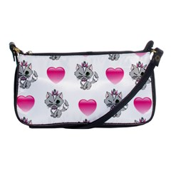 Evil Sweetheart Kitty Shoulder Clutch Bags by IIPhotographyAndDesigns